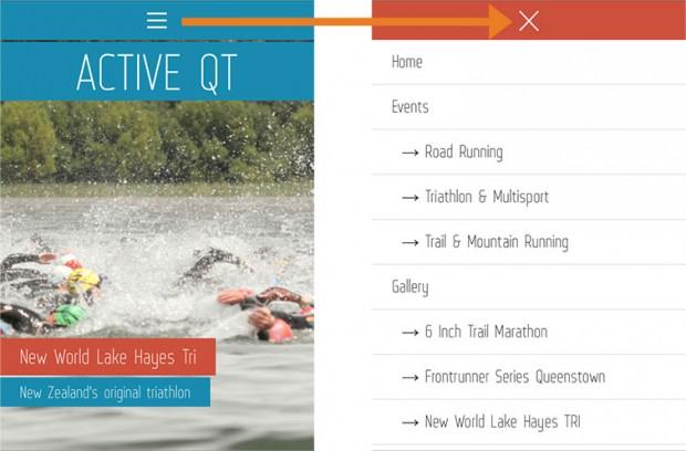 Queenstown Web Design ideal example of responsive design